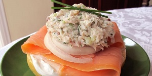 White fish salad
